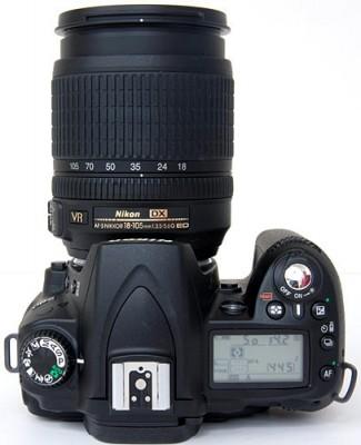Nikon D90 toppvy