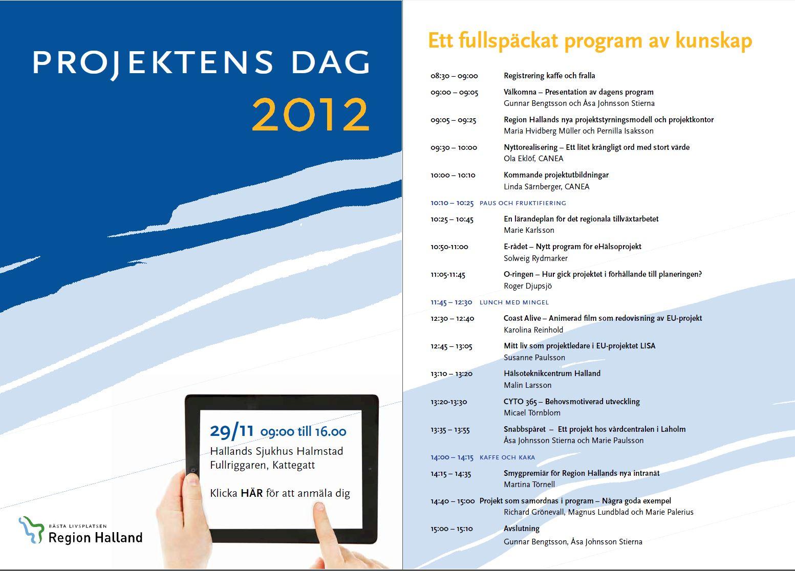 Inbjudan projektensdag 2012