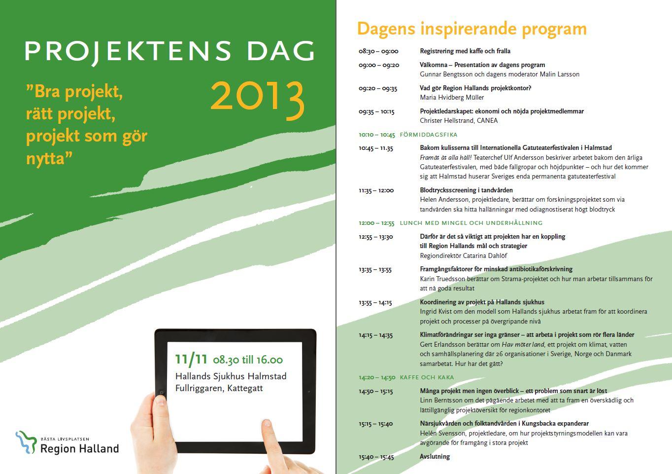 Inbjudan projektensdag 2013