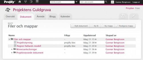 Projify-dokumentbibliotek